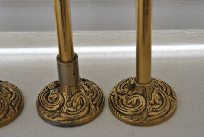 antique bronze curtain rod ball and