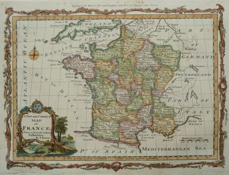 France  Emanuel Bowen   A new and Correct map of France   1785     France  Emanuel Bowen   A new and Correct map of France   1785
