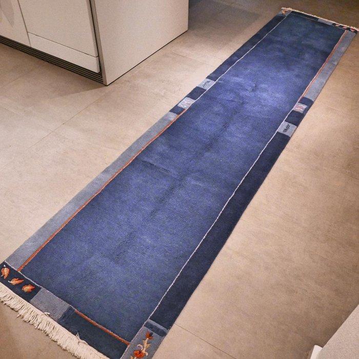 magnifique tapis oriental bleu epais