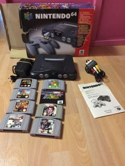 Nintendo 64 console  boxed  with 7 games  N64 box only  no styrofoam     Nintendo 64 console  boxed  with 7 games  N64 box only  no styrofoam
