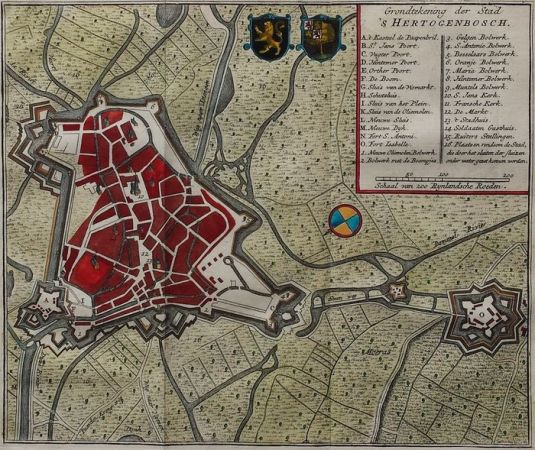 Den Bosch  Isaak Tirion   Ground Map of the City  s Hertogenbosch     Den Bosch  Isaak Tirion   Ground Map of the City  s Hertogenbosch   1740
