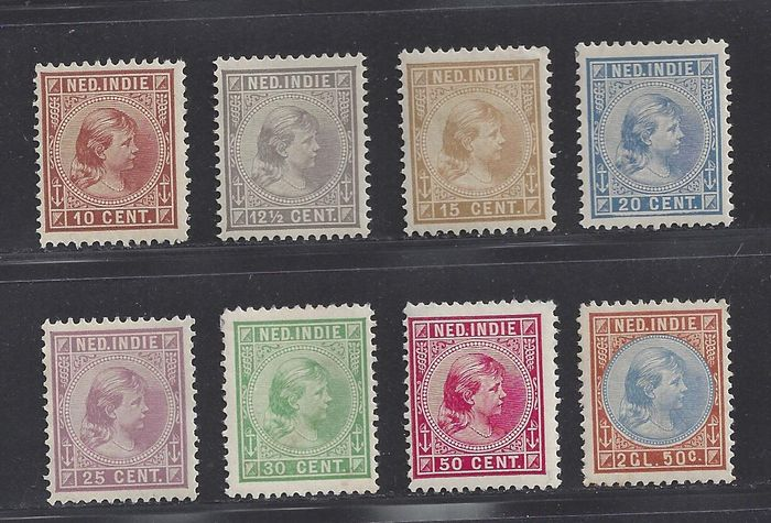 Image result for Dutch Indies NVPH 23-30 hinged  1892 -
