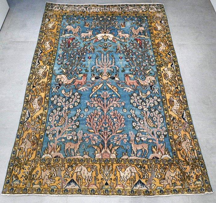 magnifique vieux tapis persan ghom
