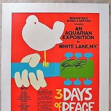 very rare 1969 woodstock concert poster