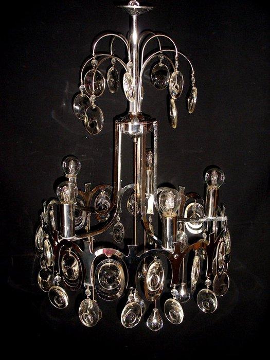Lampadario gaetano sciolari anni 70 acciaio 6 luci. Attributed To Gaetano Sciolari Designer Chandelier Catawiki