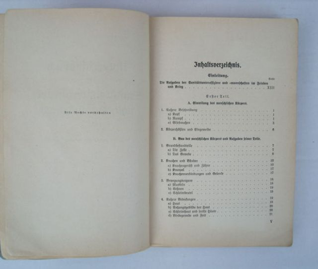 Germany Army Infantry Instruction Book For Sanitary Ncos 1940