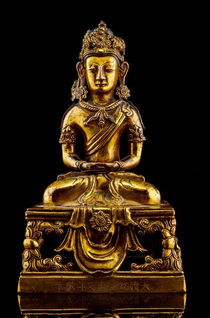 buddha - Gilt bronze - China - Qianlong (1736-1795) - Catawiki