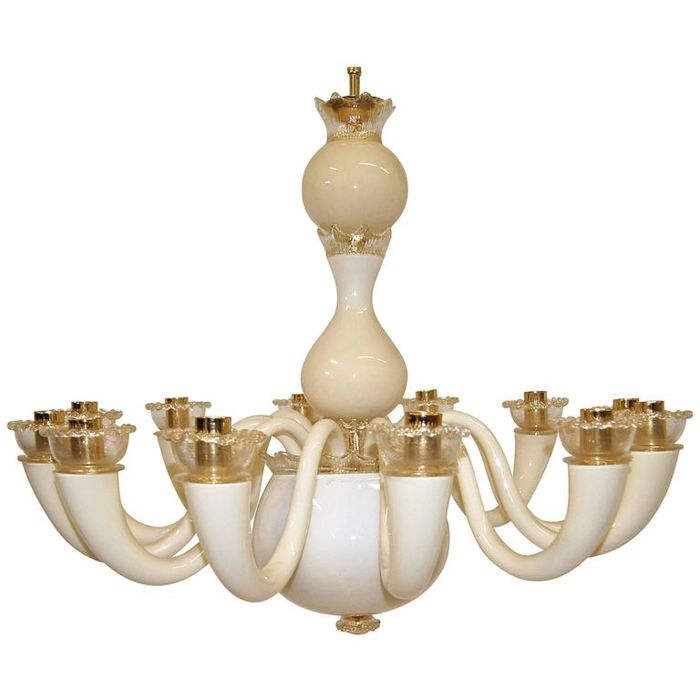 Dry bar is attributed to gio ponti and piero fornasetti in brass and wood from italy 1950s. Gio Ponti For Venini 12 Arm Glass Chandelier 99 81 Colors Catawiki