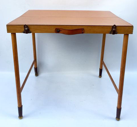 folding c camping table in wood