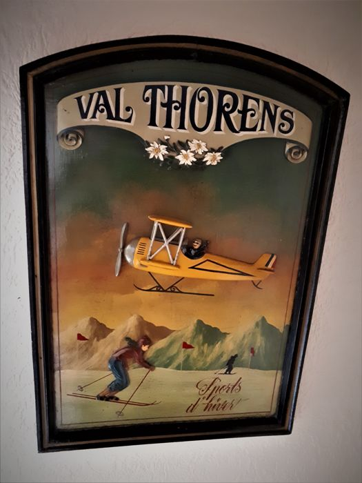 vintage wooden poster board with a
