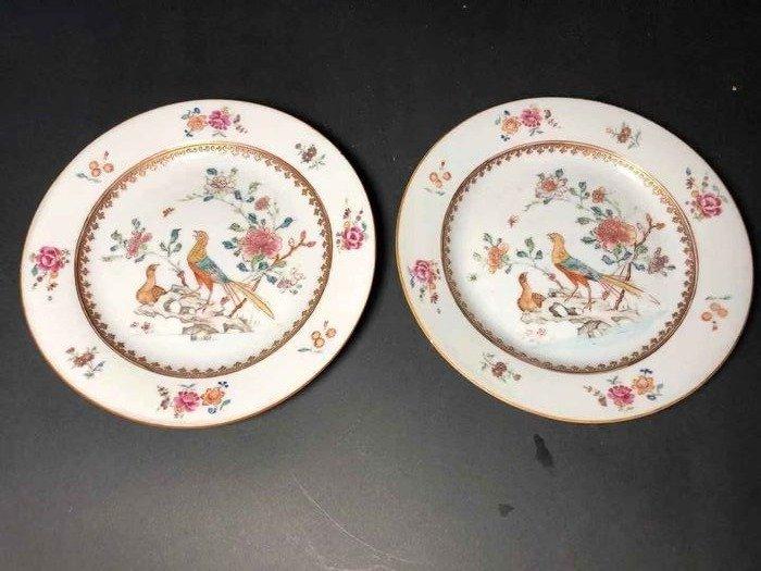 Plates (2) - Porcelain - China - Qianlong (1736-1795) - Catawiki