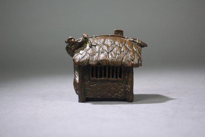 Censer - Bronze - A BRONZE GRASS HOUSE SHAPE CENSER - China - Late 20th century - Catawiki