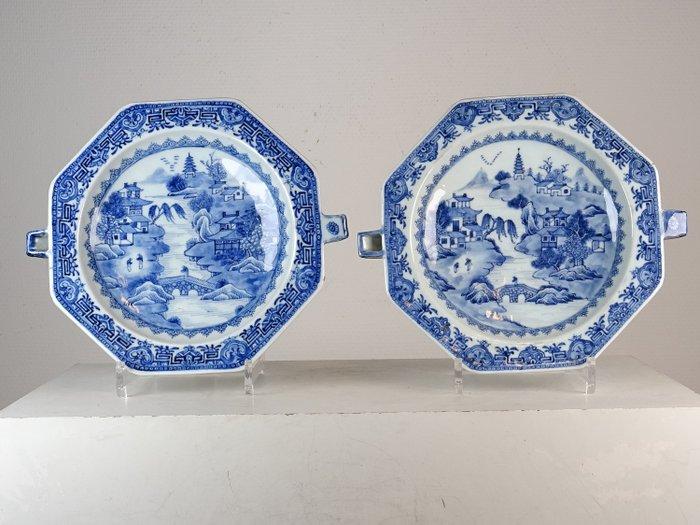 Pair of warming dishes - Porcelain - China - Qianlong (1736-1795) - Catawiki