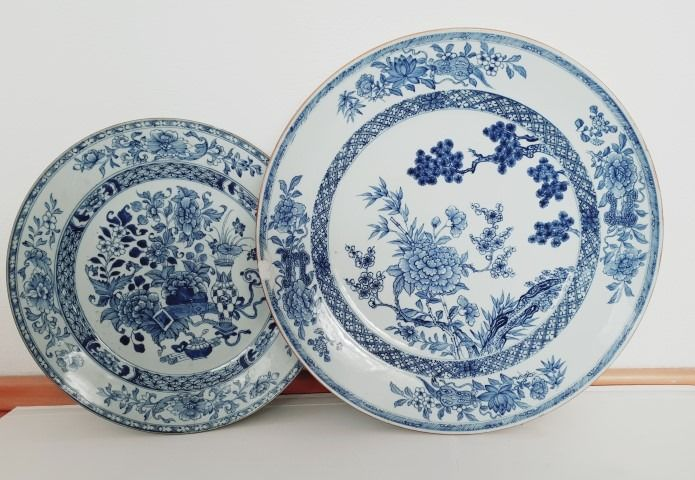 Plate (2) - Blue and white - Porcelain - China - Qianlong (1736-1795) - Catawiki