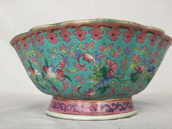 Bowl - Famille rose - Porcelain - Straits - China - Early 20th century - Catawiki