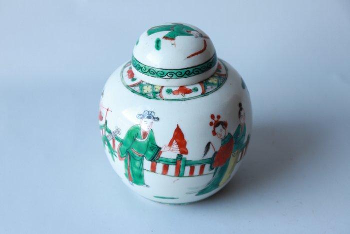 ginger jar (1) - Famille verte - Porcelain - China - Early 20th century - Catawiki