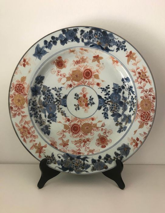 Plate - Porcelain - Rare and Huge Imari Style - China - Kangxi (1662-1722) - Catawiki