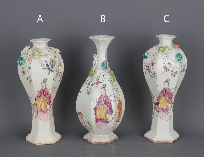 Vases - Famille rose - Porcelain, Softpaste - China - Qianlong (1736-1795) - Catawiki