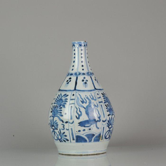 Bottle - Arita - Porcelain - Arita Japan Porcelain Jug Horses Kraak style - Japan - 17th century - Catawiki