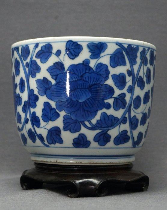 Jar - Porcelain - Peonies and chrysanthemums - Excellent cobalt - China - Kangxi (1662-1722) - Catawiki