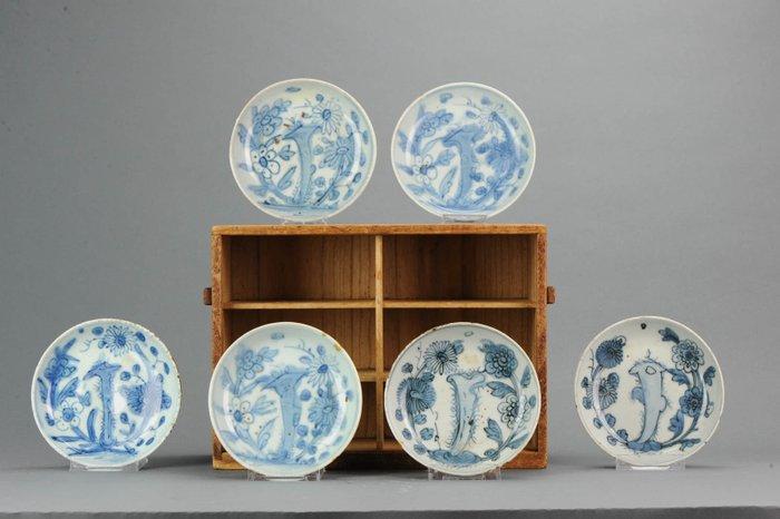 Plates (6) - Blue and white - Porcelain - Ming Period Porcelain Jiajing or Wanli - China - 16th century - Catawiki