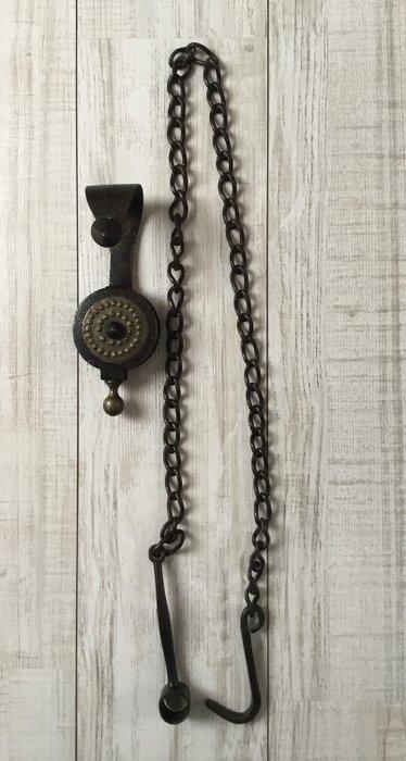 poulie de lustre avec chaine cuivre