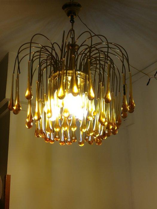 Prestigioso lampadario in cristallo 30 luci, ideale per valorizzare ampia sala o locali di pregio. Lampadario Con Gocce Di Cristallo Di Murano Catawiki