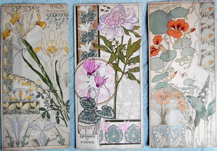 georges riom fleurs art nouveau