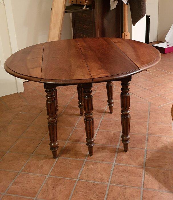 table ronde merisier a volets 6 pieds