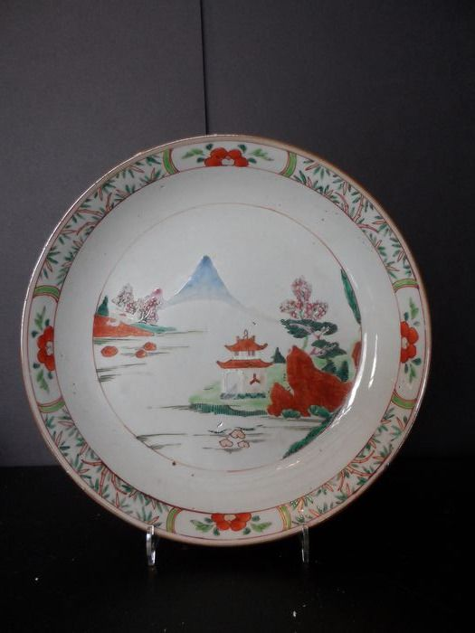 Plate - Famille verte - Porcelain - China - Qianlong (1736-1795) - Catawiki