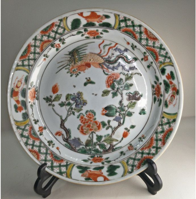 Plate (1) - Porcelain - Plate - Famille Verte - China - Yongzheng (1723-1735) - Catawiki