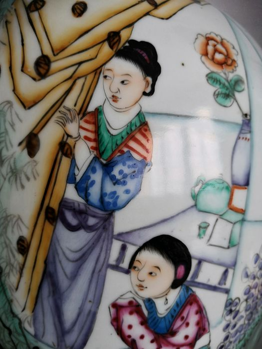 Big jar (1) - Famille rose - Porcelain - China - Republic period (1912-1949) - Catawiki