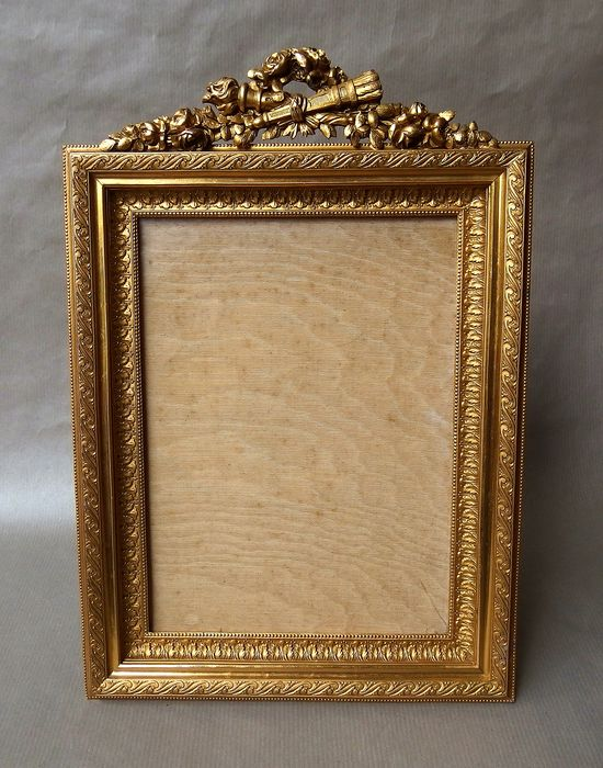 cadre photo bronze dore style louis