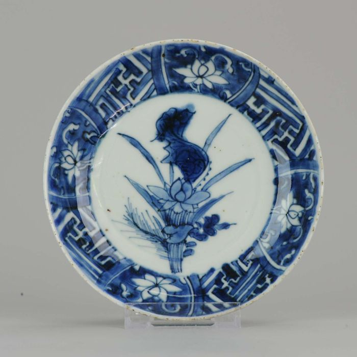 Plate - Porcelain - Chinese Porcelain Late Ming Wanli Tianqi or Transitional Reverse Decorated Lotus - China - 17th century - Catawiki