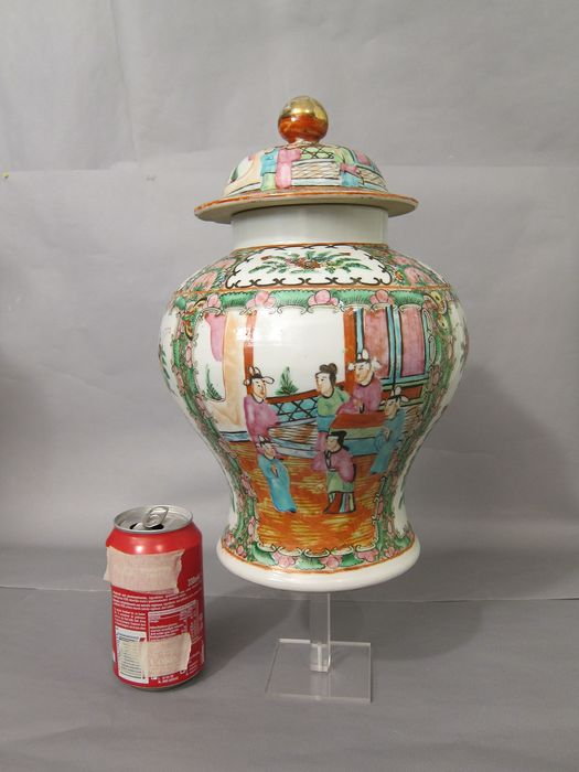 Vase, with cover (1) - Famille rose - Porcelain - China - Early 20th century - Catawiki