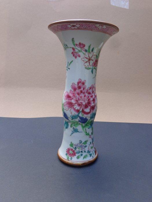 Vase (1) - Famille rose - Porcelain - Bird - Familie rose - China - 18th century - Catawiki