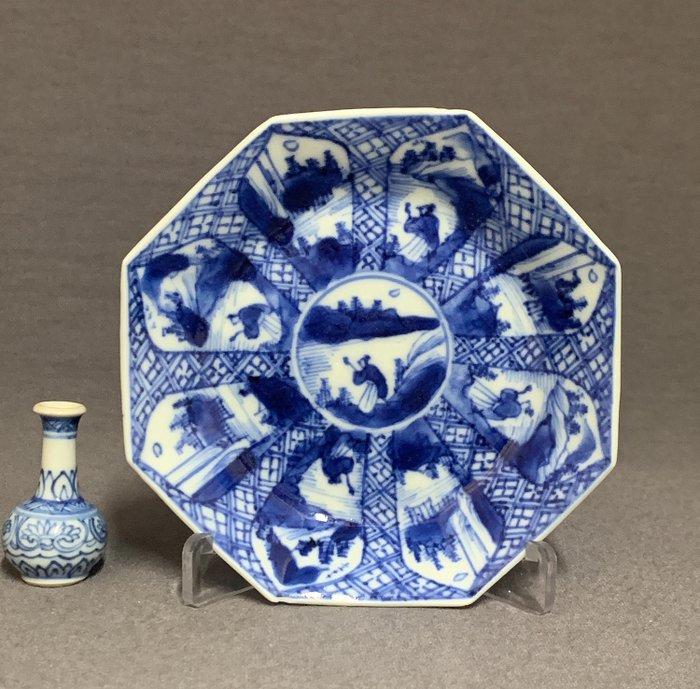 "Saucer - Porcelain - Scholar in mountainous river landscape - ""Master of the rocks"" - China - Kangxi (1662-1722) - Catawiki"