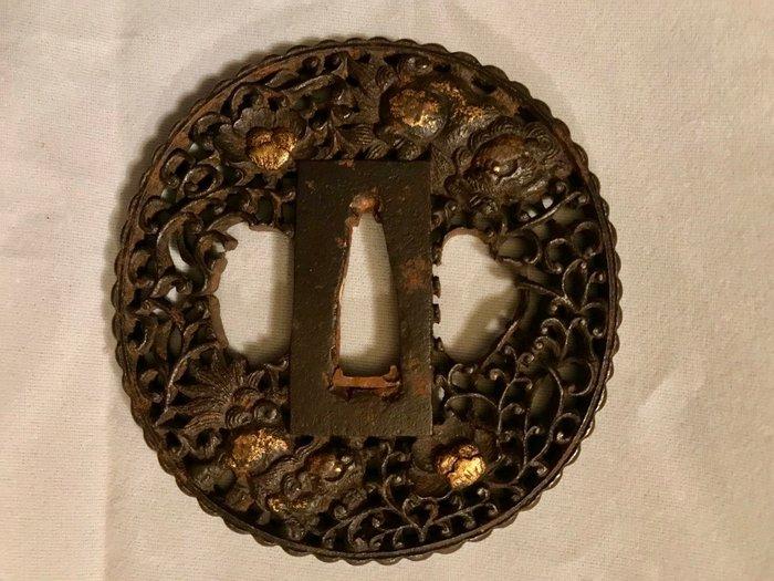 Tsuba - iron - Japan - Edo Period (1600-1868) - Catawiki