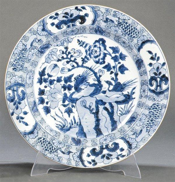 Great porcelain plate. Company of the Indies. Kangxi era. Diameter 39.5 cm - Porcelain - China - Kangxi (1662-1722) - Catawiki