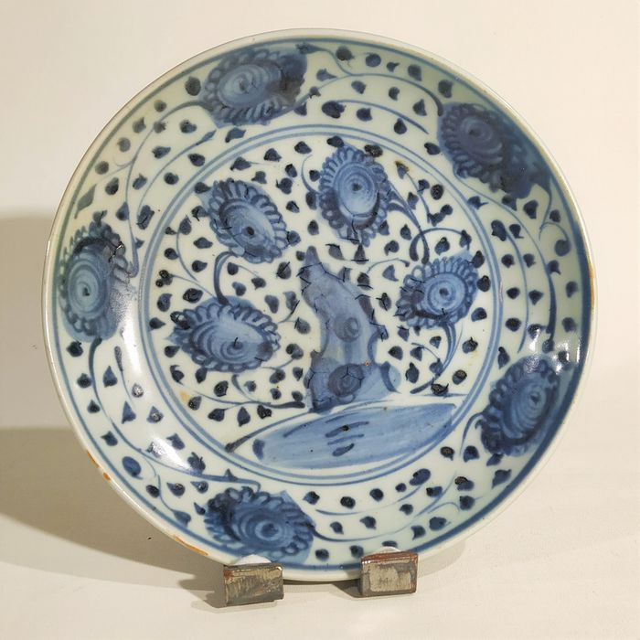 Dish - Blue and white - Porcelain - China - Ming Dynasty (1368-1644)