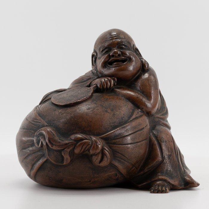 Sculpture, Bizen ware Hotei - Stoneware - Hotei - Japan - Late Edo period