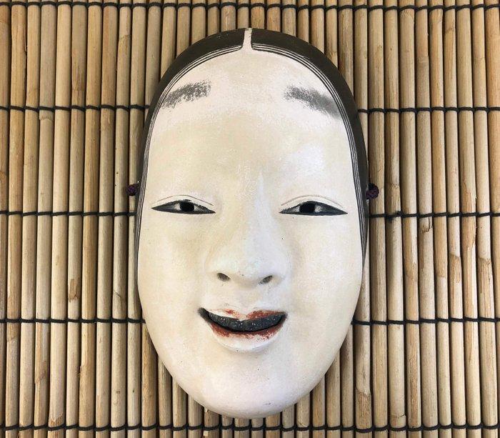 Noh mask (1) - Natural solid wood - 小面(Koomote) - Japan - Meiji period (1868-1912) - Catawiki