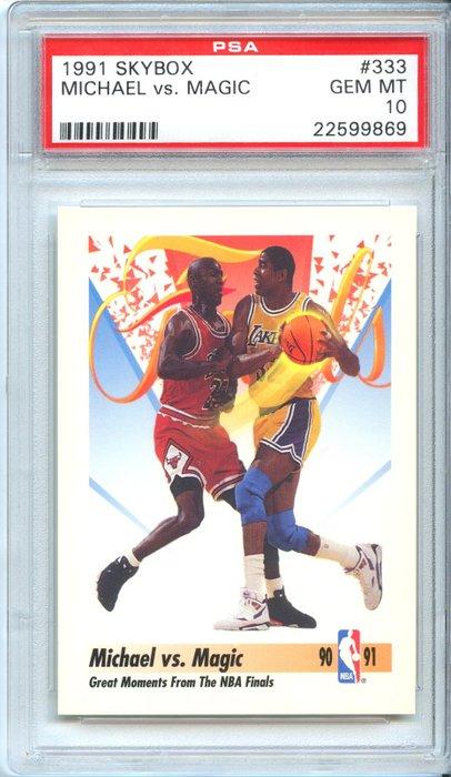 trading card michael jordan vs magic