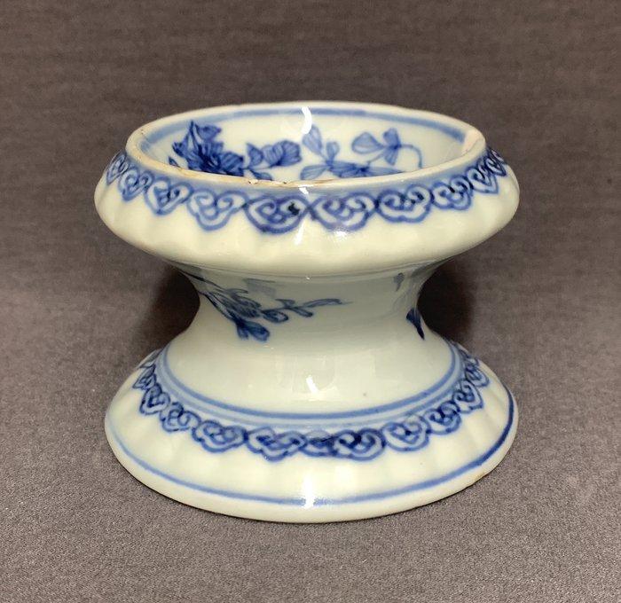 Salt cellar - Porcelain - Chinese - Ruyi heads, peonies, chrysanthemum - China - Kangxi (1662-1722)