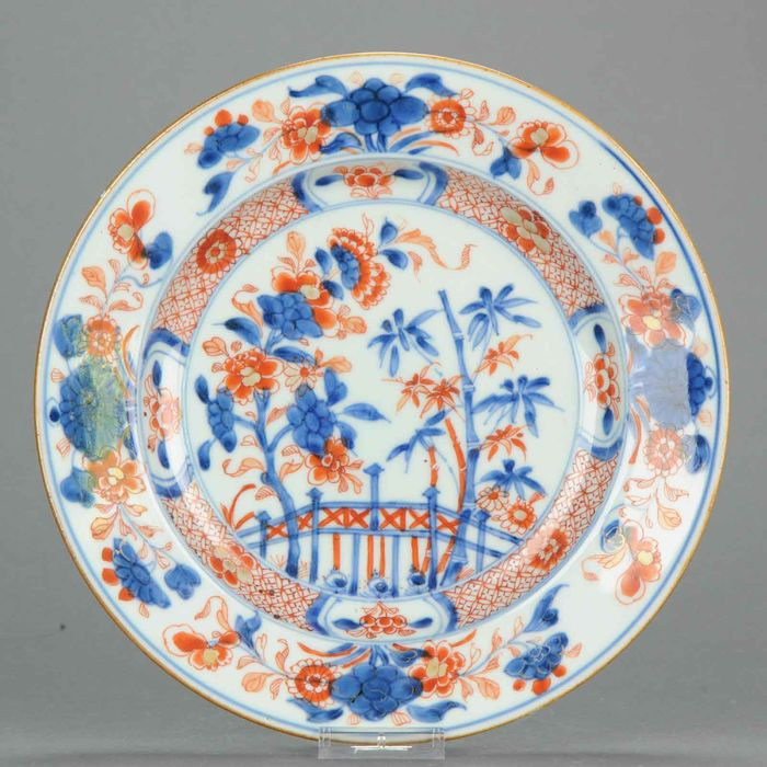 Plate - Imari - Porcelain - Lovely Antique Chinese Yongzheng Kangxi Period Imari Dinner Plate - China - 18th century - Catawiki