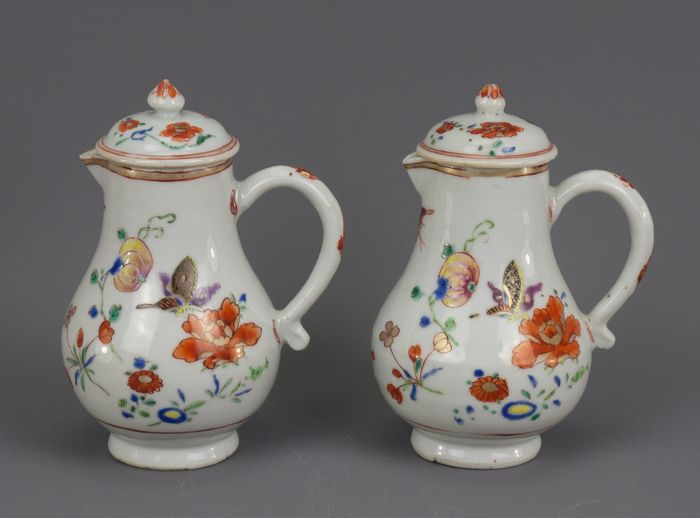 Jug (2) - Chinese export - Porcelain - China - Qianlong (1736-1795)