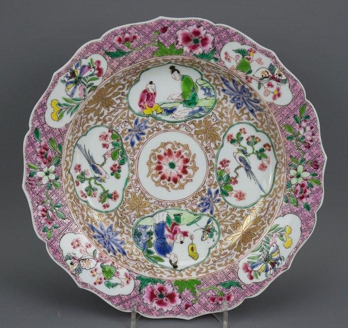 Plate - Famille rose - Eggshell porcelain - China - Yongzheng (1723-1735)