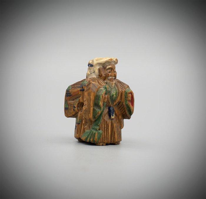 Netsuke (1) - Wood - Nara netsuke of actors - Japan - Early 20th century