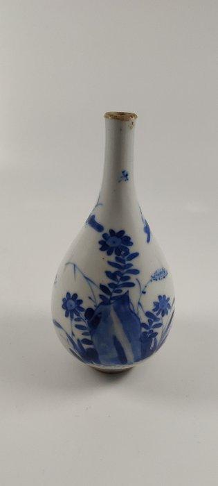 Vase (1) - Blue and white - Porcelain - Flowers, Plants - Kangxi vaasje - China - Kangxi (1662-1722)