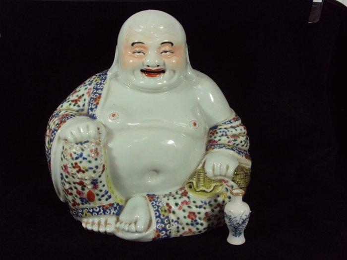 buddha - Famille jaune, Famille rose - Porcelain - Laughing Buddha - China - Guangxu (1875-1908)